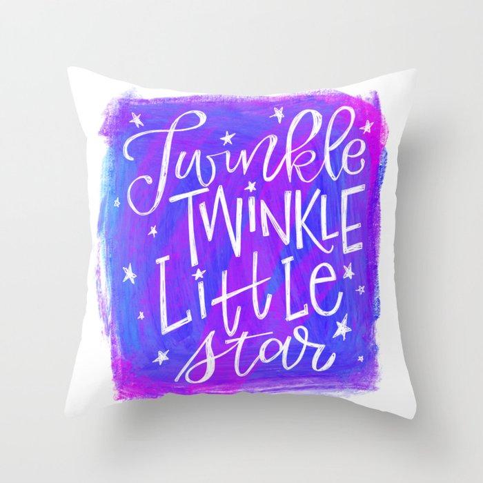 Twinkle Twinkle Little Star Throw Pillow