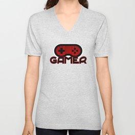 Red Gamer Unisex V-Neck