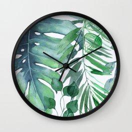 Tropical  Leaves Wall Clock