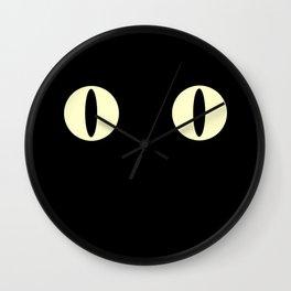 Cat Eyes (Black Cat) Wall Clock