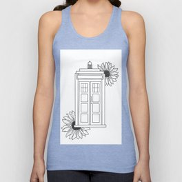 Doctor Who Tardis Illustration Design Unisex Tank Top