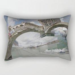 Venice Twice bridge Rialto, Italy Rectangular Pillow