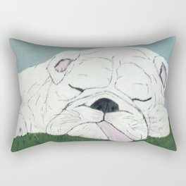 Bulldog Nap Rectangular Pillow