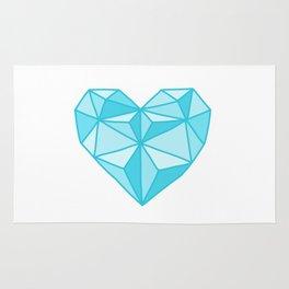 Geometric Diamond Heart - Topaz Rug
