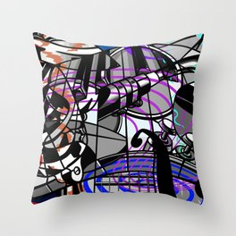 Jam Session (Cacophony) Throw Pillow