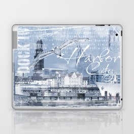Harbor City Hamburg Germany mixed media Art Laptop & iPad Skin
