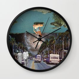 The Mind on Tormented Tides Wall Clock