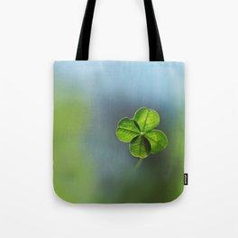 Lucky Four Leaf Clover Tote Bag