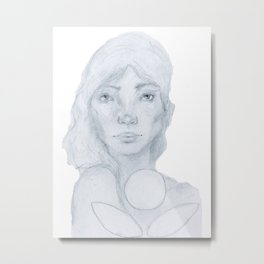 Lined Beauty Metal Print
