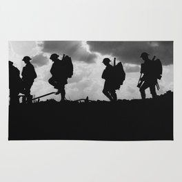 Soldier Silhouettes - Battle of Broodseinde Rug