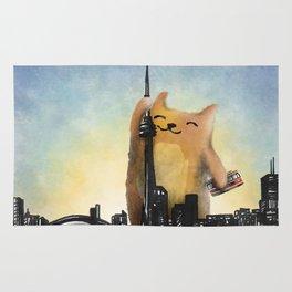 Level Cat Kaiju Rug