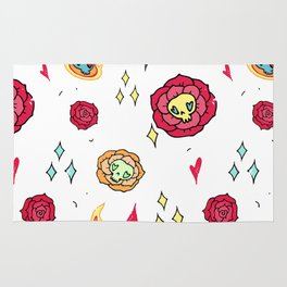 Roses with skulls Rug