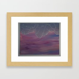 Serenity Now Leggings Framed Art Print