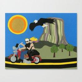 Easy Riding Canvas Print