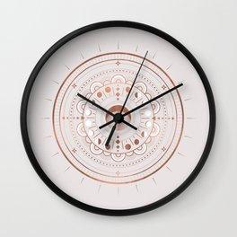 Rosè Moon Mandala Wall Clock