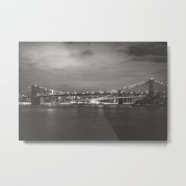New York City Nights Across the River Metal Print
