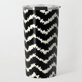 Ragged Chevron - Black/Cream Travel Mug