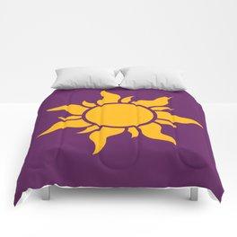 Tangled Rapunzel Sun Logo - Corona Symbol Comforters