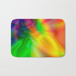 Abstract Iridescent Water Bath Mat