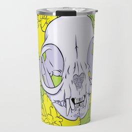 Persian Kitty Skull Travel Mug