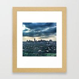 Sky, Concrete, Earth Framed Art Print