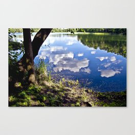 Summer Sky is touching water ground Canvas Print