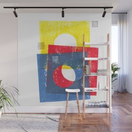 Basic in red, yellow and blue Wall Mural