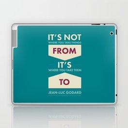 Godard (The quotes series) Laptop & iPad Skin