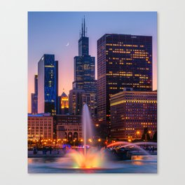 Buckingham Fountain In Chocago Canvas Print
