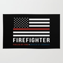 Fueled By Fire (Thin Red Line) Rug