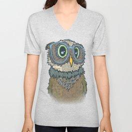 Owl wearing glasses Unisex V-Neck