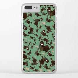 Shy european mink pattern Clear iPhone Case