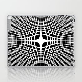 White On Black Convex Laptop & iPad Skin
