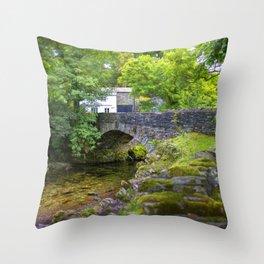 Ambleside Stone Bridge Throw Pillow