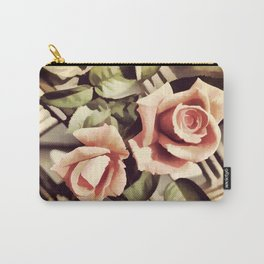 Vintage Rose Garden - Painterly Carry-All Pouch