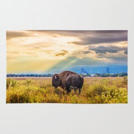 The Great American Bison Rug