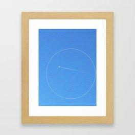 circle plane Framed Art Print