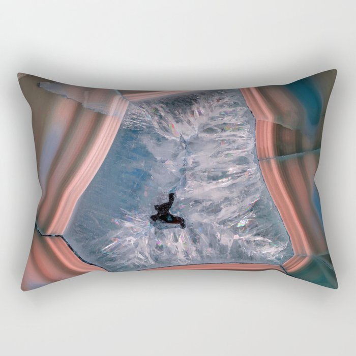 Earth treasures - colorful agate Rectangular Pillow