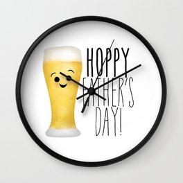 Hoppy Father's Day Wall Clock