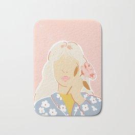 Girl and her Flower Bath Mat