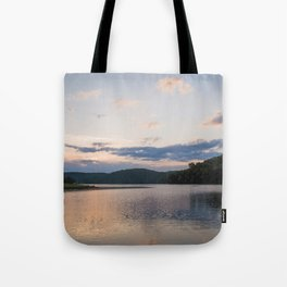Midwest Sunrise Over the Lake Tote Bag