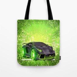 Tronic Green Sports Car Tote Bag