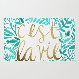 That's Life – Turquoise & Gold Rug