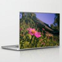 seoul Laptop & iPad Skins featuring Seoul Flower by Clayton Jones