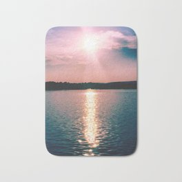 Sunset on the Susquehanna River Bath Mat