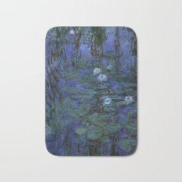 Blue Water Lilies Monet 1916- 1919 Bath Mat