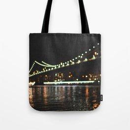 Manhattan Bridge Lights Tote Bag