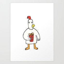 Cannibal chicken Art Print