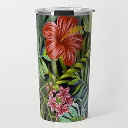 Tropical Leaf Pattern 1 Travel Mug