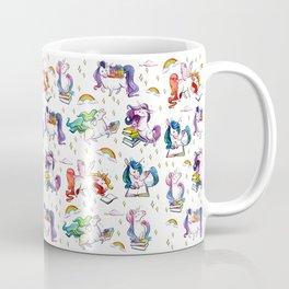 Reading Unicorn Pattern Coffee Mug